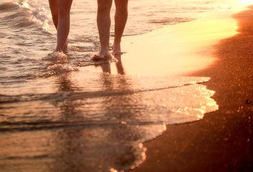 Honeymoon beach walk