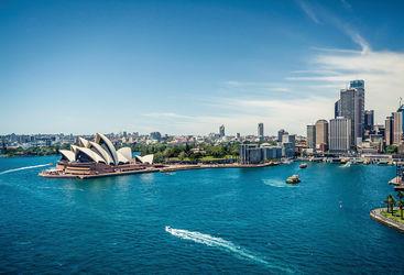 Aerial of Sydney Opera House