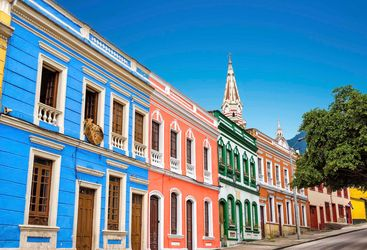 Colourful Bogota houses