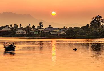 Sunset river views