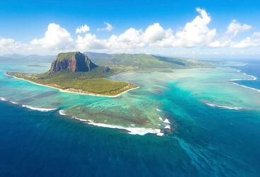 Aerial of Mauritius