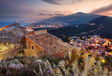 Taormina at night