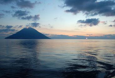 Italy island sunset