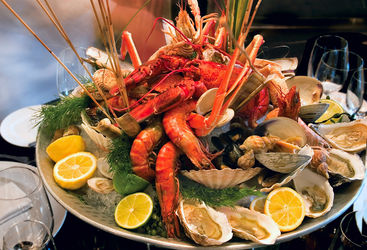 Seafood platter, Gothenburg, Sweden