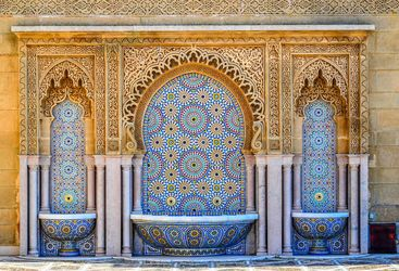 Morocco fountains and tiles