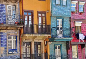 Multicoloured balconies, Porto