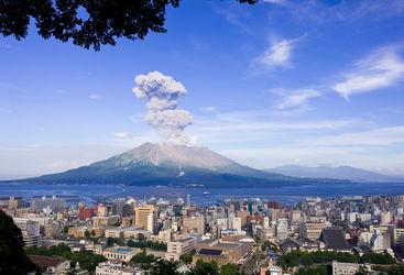 Sakura-Jima volcano, Kyushu