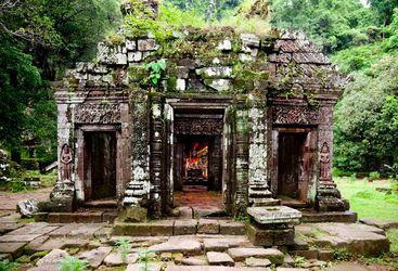 Overgrown temple, Laos