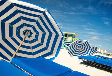 Miami beach umbrellas