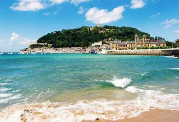 View of sandy beach of San Sebastian