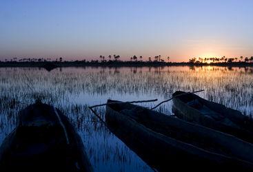 Three mokoros, Botswana
