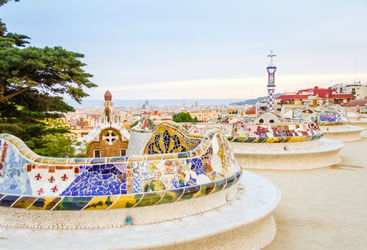 Benches in Guell park