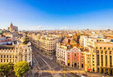 Madrid aerial view