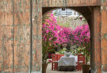 Doorway looking into courtyard
