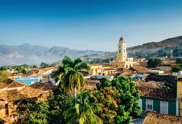 View overlooking Trinidad in Cuba