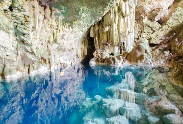 Turquoise caves in Cuba