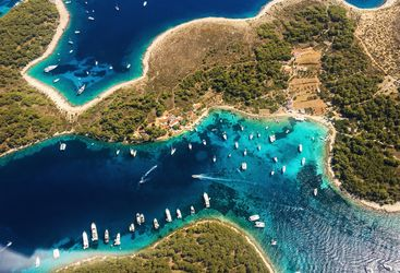 Aerial view of islands in Dalmatian Coast
