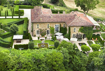 Aerial view of Borgo Villa