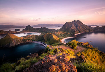 Sunset at Komodo Island