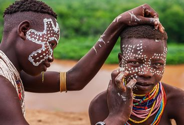 Ethiopian tribal people