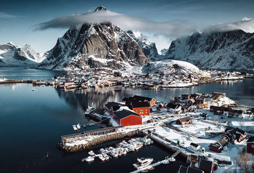 winter in Norway's Lofoten Island