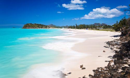 Caribbean Beach with perfect sky
