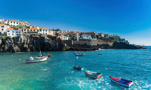 Boats on the water in Madeira