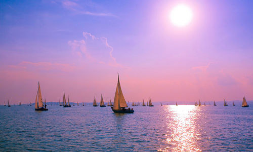 Croatia sunset sailing