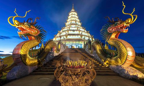Chiang Rai Wat at Night