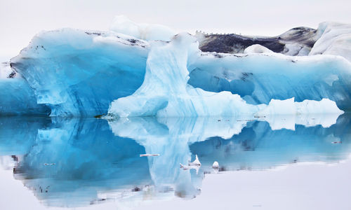 Iceberg reflection in Iceland