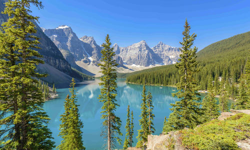 Lake Louise in the Rocky Mountains