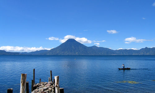 Lake Atitlan by San Pedro Volcano