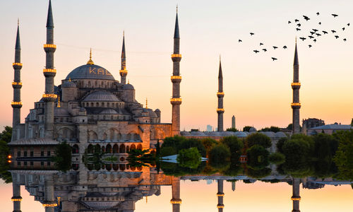 Blue Mosque in Istanbul at Dusk