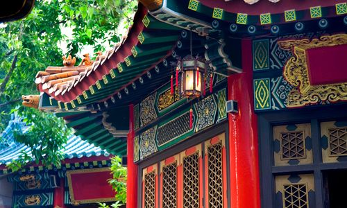 Brightly Painted Temple