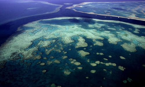 Aerial view reef