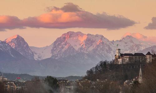 Sunset in Ljubljana