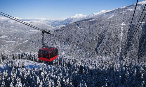Cable Car over Whistler Mountain