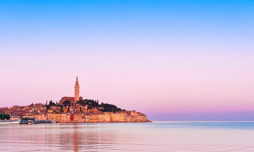Rovinj old town sunset