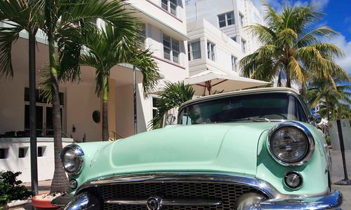 Classic car in Miami