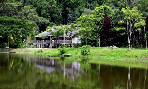 Borneo village house