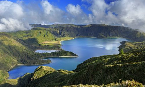 An aerial view of The Azores