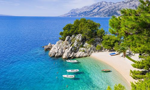 Secluded beach in Makarska riviera