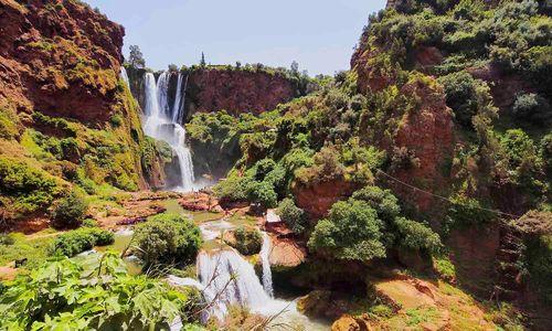 Atlas mountains Ouzoud waterfall