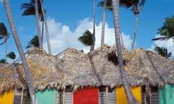 Dominican Republic colourful huts