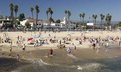 Families on the Beach in California