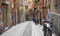 Traditional street in Cagliari
