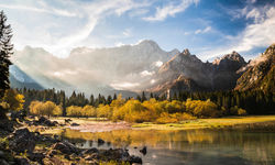 Triglav mountains in Slovenia