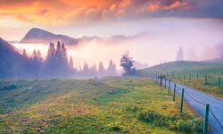 Sunset over Triglav National Park