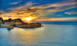 Sunset over the Sea in Corfu