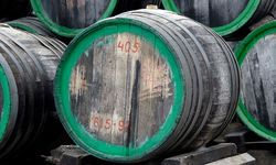 Old wood wine barrells